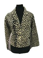 Painted Pony Womens Tapestry Jacket Coat Jungle Leopard Zebra Sz Small Medium