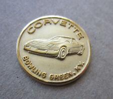 Chevrolet Gold Corvette Lapel Pin, Bowling Green, 10K Gold