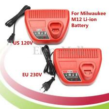 12V DC 3A M12 Lithium Battery Charger Replacement For Milwaukee Li-ion Battery