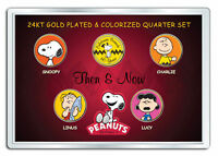 PEANUTS * Then & Now * 24K Gold Plated US State Quarter 5-Coin Set CHARLIE BROWN
