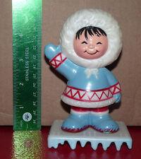 *Vintage Happy Figurine North Native Eskimo Inuit ! Plastic toy 5''