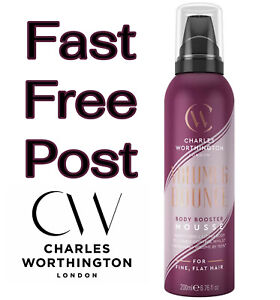 Charles Worthington Volume and Bounce BODY BOOSTER MOUSSE 200ml