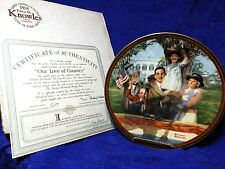 Norman Rockwell's Our Love Of Country Factory Box Coa