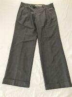 Lauren Ralph Lauren 34 x 29 Gray Pleated & Cuffed Dress Pants