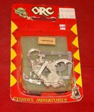 Warhammer Fantasy 9001 Orc With Scythe And Orc With Sword New In Pack 1980s RARE
