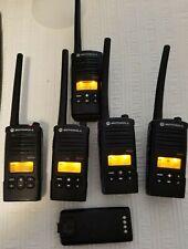 Motorola RDM2070D Two Way Radio lot of 5 radios , 1extra battery  NO charger