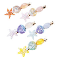 Pearl Starfish Hairpins Shell Hair Clips Geometric Side Clip Hair Styling Tools