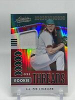 2020 Panini Absolute Baseball Rookie Threads Jersey Relic AJ Puk /99