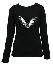Long Sleeve Regular Size Gothic T-Shirts for Women