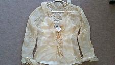 Women/Ladies/Girls Silk Blend blouse dress + Top  SIZE 10 UK
