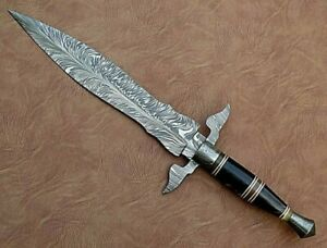 "Beautiful Damascus steel Dagger 17"" (1 PC) Custom made!!!"