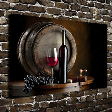 Grape wine modern wall art canvas oil painting for home kitchen room decor