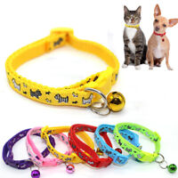 Cat Kitten Small Dog Puppy Lovely Pet Collar With Bell Nylon Fabric Adjustable