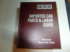 2001 MOTOR'S IMPORTED CAR PARTS & TIME GUIDE MANUAL 97 98 99 00 01 TOYOTA MAZDA