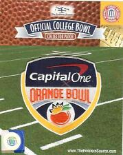 2018 2019 Capital One Orange Bowl Patch Alabama Oklahoma Official Jersey Logo