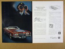 1971 Cadillac Eldorado Convertible car photo vintage print Ad
