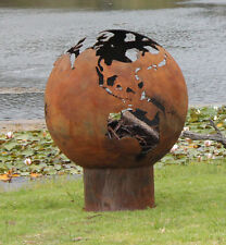 Wood Fire Pit - 1 meter sphere in the shape of the world - great center piece