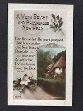 Vintage Postcard - New Years Greetings Card - #AA63 - Rotary 1919