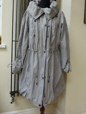 Ann Harvey Grey Parka Coat Jacket Windbreaker Raincoat RRP £80 New with tag