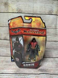 "DC Comics Multiverse Batman Arkham Knight 4"" 3.75"" Robin Tim Drake Figure Mattel"