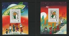 Thematic stamps MONGOLIA 1991 JETSONS 2MIN SHEETS MS2179 mint
