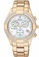Citizen Eco-Drive Regent Women's FB1223-55D Diamonds Rose Gold Tone 35mm Watch