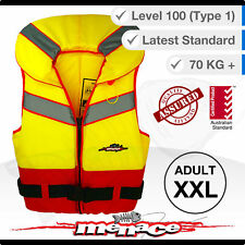 ADULT XXL Life Jacket - Foam Type 1 New Lifejacket Vest PFD1 2XL Level L100