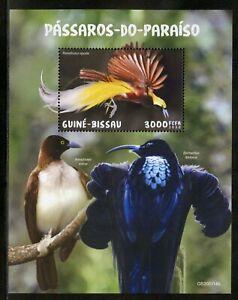 GUINEA BISSAU 2019 BIRDS OF PARADISE SOUVENIR SHEET MINT NH