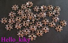 250Pcs  Antiqued copper plt dotted flower bead caps A14