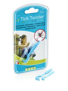 Tick Twister by O'tom - The original - Pack of 2 blue tick removers