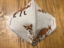 """Lovely """" Foxy"""" & """"Fox Cubs"""" quality Country Linen Face Covering -Teen/Adult/wash"""