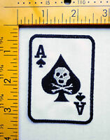 ace of spades patch badge card skull tattoo motorcycle biker vest jacket hot rod