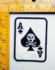 ace of spades patch badge card skull tattoo motorcycle biker vest jacket hot rod