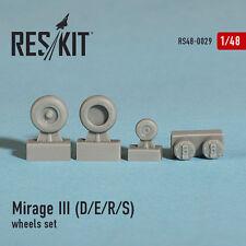 RESIN WHEELS SET FOR MIRAGE III (D/E/R/S) 1/48 RESKIT 48-0029