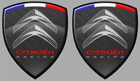 STICKER 2 x ECUSSON CITROEN AUTOCOLLANT RACING C2 C1 ZX SAXO C3 CX AX 8cm CB104