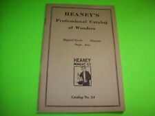 Magic Tricks Catalog Vintage Professional Illusions Stage Acts 1920s Heaney NOS