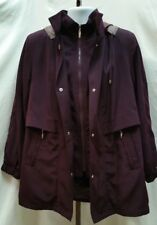 Pre-owned Women's Croft & Barrow Plum Jacket with Button on Hood Size M X121