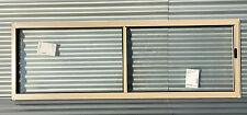 600h x 1810w BRAND NEW Aluminum Sliding window Stone Beige Clear Float