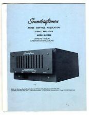 SOUNDCRAFTSMEN - PCR800 OPERATING INSTRUCTIONS + SERVICE SCHEMATICS