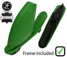 GREEN REAL LEATHER HANDBRAKE GAITER WITH PLASTIC FRAME FOR MG ZT ZT-T 1999-2005