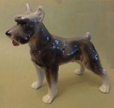 WIEN KERAMOS CHOCHOLKA Giant Austrian German REISENSCHNAUZER Stand DOG FIGURINE
