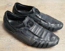 "💥PUMA ""Vedano"" Black Leather Sneakers Trainer Shoes 303811-0 Men's SZ 10.5"