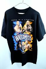 Mens WWE Wrestlemania 28 XXVIII Shirt Size Large - ROCK UNDERTAKER TRIPLE H_R114