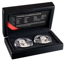 2017 Palau Chinese Guardian Lion Set of 2 High Relief 2 oz Silver Proof SKU51832