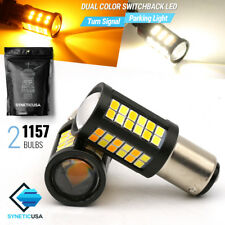 1157/1076 Dual Color Switchback White/Amber 64-LED DRL Turn Signal Parking Bulbs