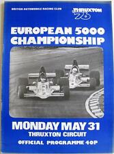 THRUXTON BARC Europeo 5000 31st MAGGIO 1976 MOTOR RACING PROGRAMMA UFFICIALE