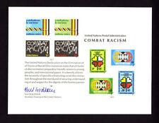 "United Nations (SC 12) "" Combat Racism "" 1977 Souvenir Card Set of 3"