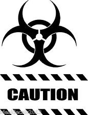"""CAUTION STICKER decal  8"""" x  6""""  in Color BLACK"""