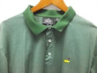 The Masters Augusta PGA Italian Golf Polo Shirt XL Clubhouse Collections Green