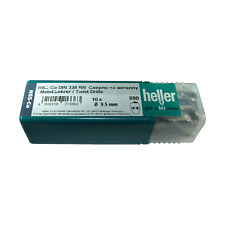 Heller 9.5mm HSS Cobalt Metal Drill Bits 10 Pack HSS-Co Quality German Tools